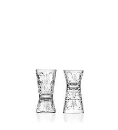 AGGARWAL CROCKERY & SCIENTIFIC STORES Tattoo Shot/Hour Glass 30-60 ml Set 2 Pcs