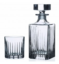 RCR Timeless Whisky Set, 1 Decanter with 6 Glass