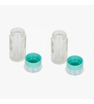Aggarwal Crockery & Scientific Stores Salt/Spice Round Bottle-Set of 2 Pcs (50 ml)